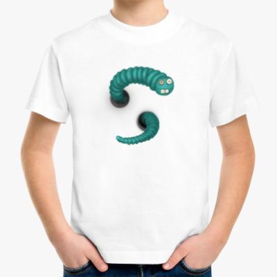 Детская футболка Червяк