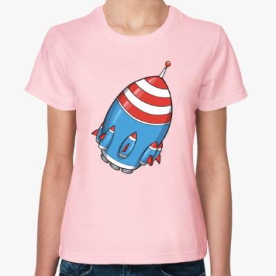 Женская футболка Космос. Ракета.
