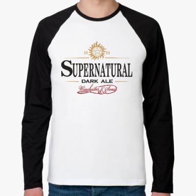 Футболка реглан с длинным рукавом Supernatural - Темный эль