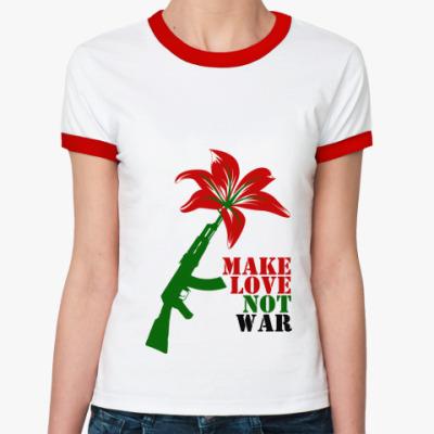 Женская футболка Ringer-T AK flover