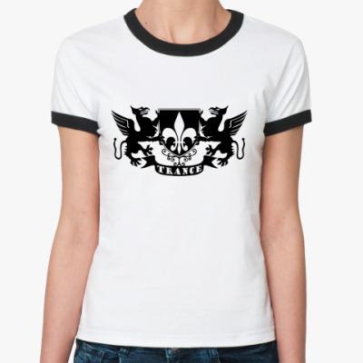 Женская футболка Ringer-T TRANCE