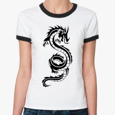 Женская футболка Ringer-T Big Dragon