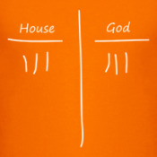 Принт Мужская футболка, оранжевая