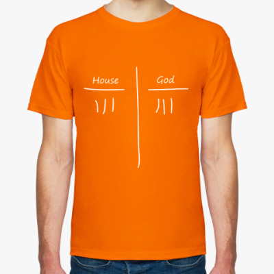 Фото Мужская футболка, оранжевая