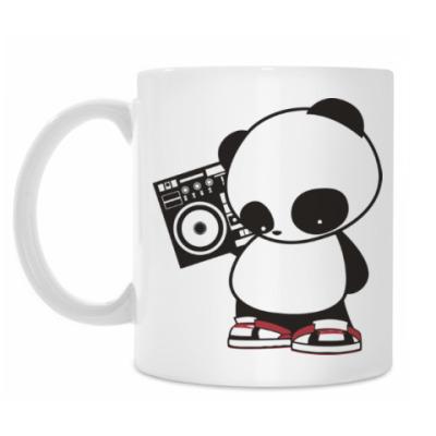Кружка Панда с магнитофоном
