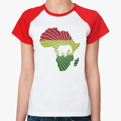 Женская футболка реглан Африканский слон