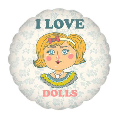 Подушка Люблю кукол