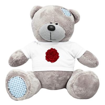 Плюшевый мишка Тедди розы