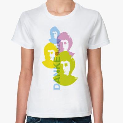 Классическая футболка 8 марта Danke Rosa