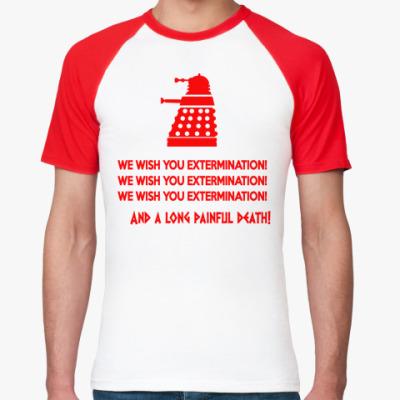 Футболка реглан Dalek Christmas