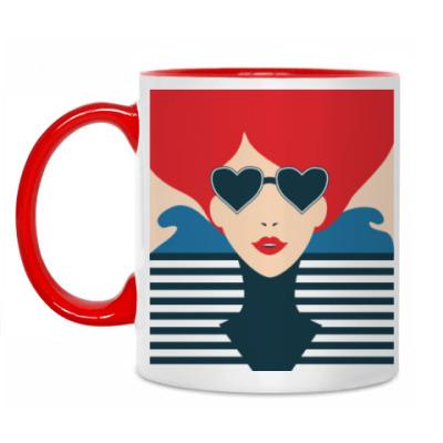 Кружка Француженка, фэшн иллюстрация, поп арт
