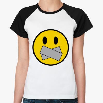 Женская футболка реглан Немой Смаил