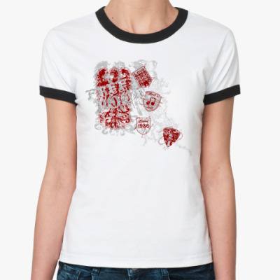 Женская футболка Ringer-T Fire rock