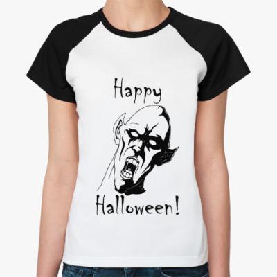Женская футболка реглан Happy Halloween!