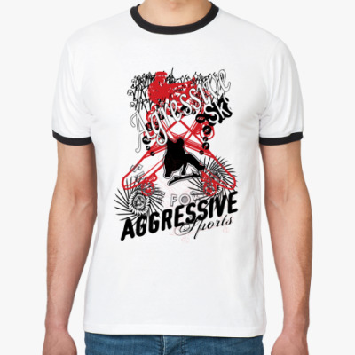 Футболка Ringer-T Aggressive