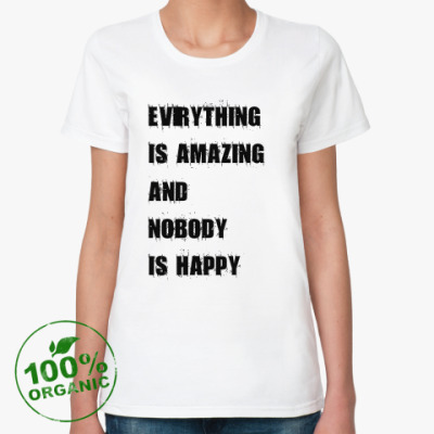 Женская футболка из органик-хлопка Amazing