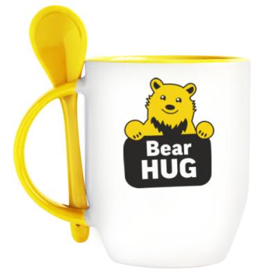 Кружка с ложкой Bear hug