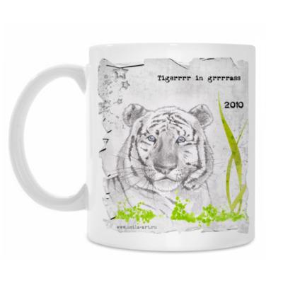 Кружка Тигр в траве