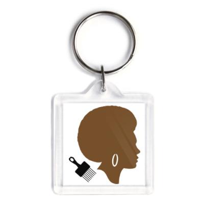 Брелок Afro Lady