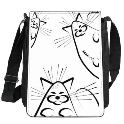 Сумка-планшет Кошки