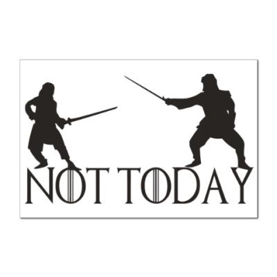 Наклейка (стикер) Игра престолов - Не сегодня