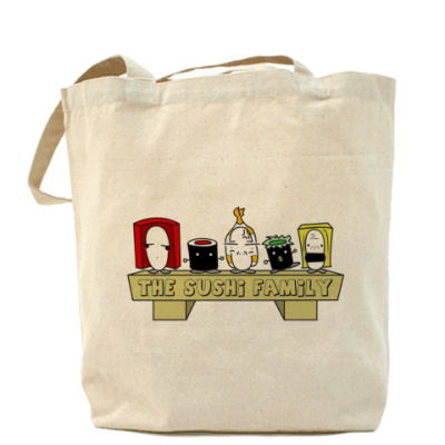 Сумка Sushi Family Холщовая сумка