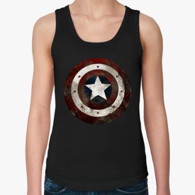 Женская майка Капитан Америка
