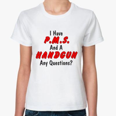 Классическая футболка P.M.S. and HANDGUN