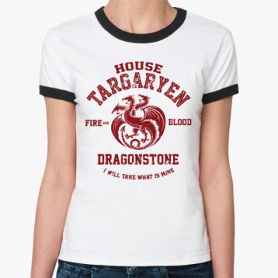 Женская футболка Ringer-T Игра престолов.Таргариены