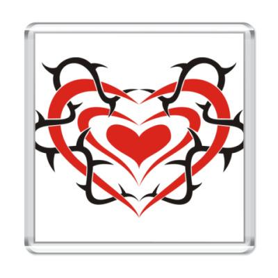 Магнит Spiked Heart