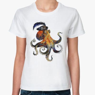 Классическая футболка Пиратский осьминог