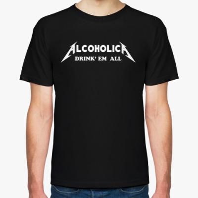 Футболка 'AlcoholicA'