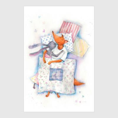 Постер Уют под одеялом