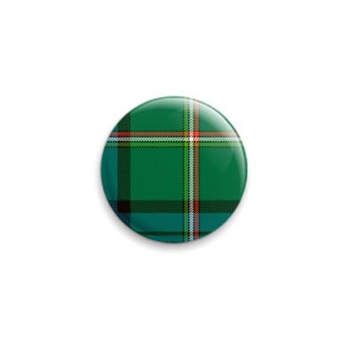 """Значок 25мм  """"Green Tartan"""""""
