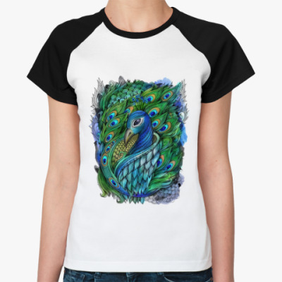 Женская футболка реглан 'Павлин'