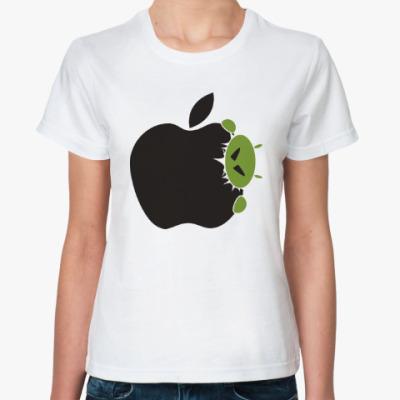 Классическая футболка Голодный андроид