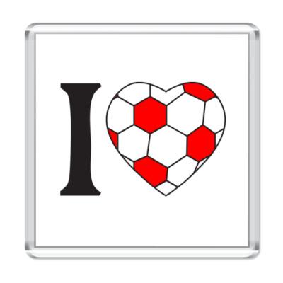 Магнит  I Love Football