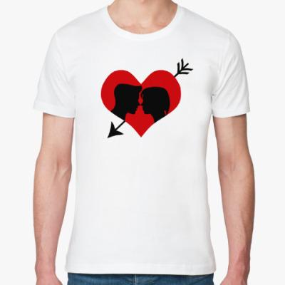 Футболка из органик-хлопка Сердце хочет любви