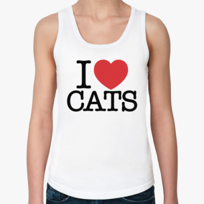 Женская майка я Люблю кошек