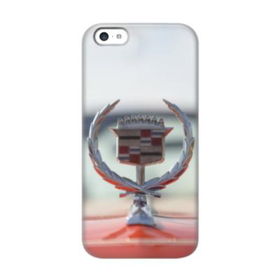 Чехол для iPhone 5c Cadillac на капоте. Ретро лого