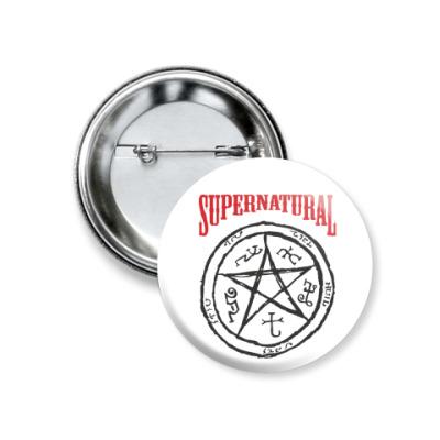 Значок 37мм Devil's Trap - Supernatural