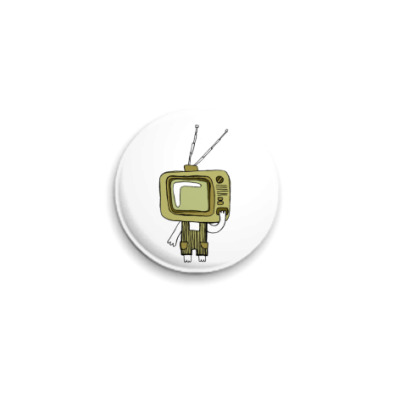 Значок 25мм  Даня-телевизор
