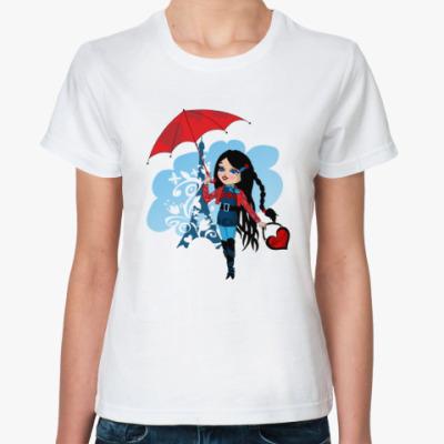 Классическая футболка Очаровательная путешественница