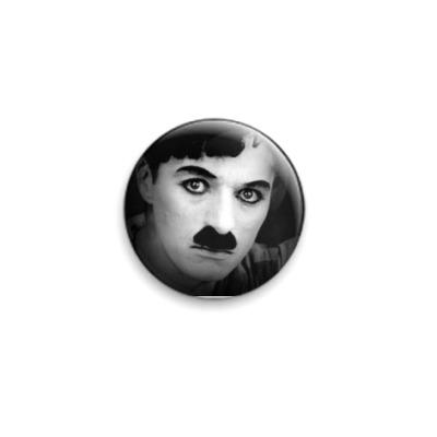 Значок 25мм  Чарли Чаплин
