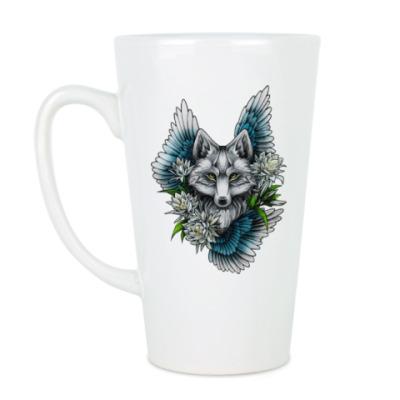 Чашка Латте волк