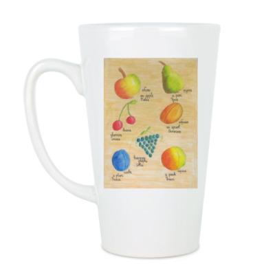 Чашка Латте 'Fruits'