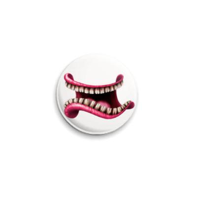 Значок 25мм  улыбчивого злодея