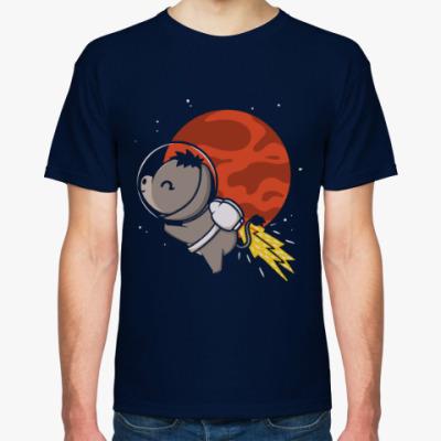 Футболка Ослик в космосе