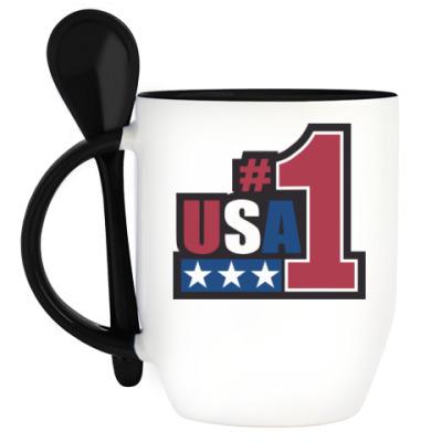 Кружка с ложкой USA 1
