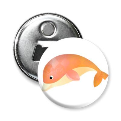 Магнит-открывашка Дельфин
